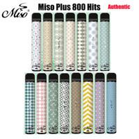 MISO PLUS Penna vaporizzazione monouso 800 hits sigaretta vaporizzatore di avviamento kit di avviamento 550mAh Batteria 2.4ml dispositivo POD Sostituire il soffio