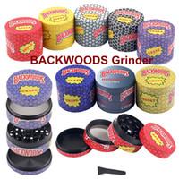 Backwoods moedor 40mm 50mm 55mm 63mm tabaco slicer 4 camadas erva criter colorido moedor múler acessórios de fumo vender