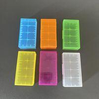 Kostenloser Epacket 2 * 18650 Batteriekasten Box Sicherheitshalter Lagerung Container Kunststoff Tragbare Hülle Fit 2 * 18650 oder 4 * 18350 CR123A 16340 Batterie