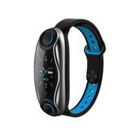 أحدث T90 ساعة ذكية TWS بلوتوث سماعة القلب رصد معدل الذكية معصمه وقت طويل الاستعداد الرياضة ووتش مع سماعات الأذن