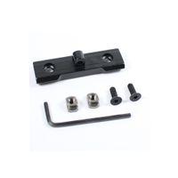 M LOK BiPod Mount Adapter Slot Slot Systems Systems per Harris Sling Sling Stud in alluminio nero