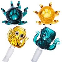 Renkli Mürekkepbalığı Kafa Cam Bong Accessroies Recycler Dab Rig Cam Su Bongs Aksesuar 14mm Eklem Kase Ücretsiz Kargo