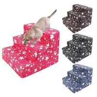 الكلب سلالم الحيوانات الأليفة 3 خطوات الدرج لصغيرة الكلب القط منزل الحيوانات الأليفة تسلق منحدر سلم السرير التدريب اللوازم 1