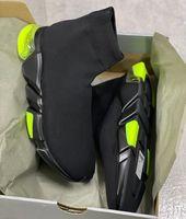 Designer Socken Sneakers Herren Frauen Stretch-Strick Mid Sneakers Trainer Runner Schuhe Leichte lässige Sportschuhe mit Box