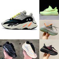 새로운 아이 신발 반사 V2 실행 신발 아기 소녀 소년 트레이너 스니커즈 700 V3 웨이브 러너 어린이 운동화 회색 검은 흰색