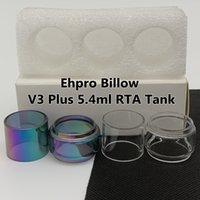 Ehpro Billow V3 Plus 5.4ml serbatoio RTA RTA Tubo della lampadina 8.5ml trasparente arcobaleno Sostituzione di vetro tubo esteso bolla fatboy