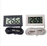 500pcs Thermomètre écran LCD Réfrigérateur avec compartiment congélation aquarium de poissons Température -50 ~ 110C GT blanc Noir Couleur