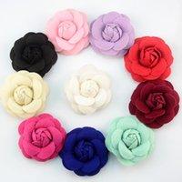 5 pz / lotto 7 cm Manuale Camelia Core Panno Fiore per le ragazze Bomboniere Accessori fai da te Decorazione Fiore artificiale Flower Decor 75z