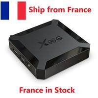 Statek z Francji X96Q Android 10.0 10 TV Box Allwinner H313 Quad Core Supple Smart TV WiFi 2 GB 16 GB TV