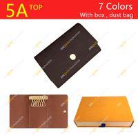 Homens e mulheres Designer 6 Chave Holder M62630 Floralchess Case chave de alta qualidade / caixa de presente Packaging Spot frete grátis