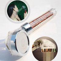 Yüksek kaliteli duş başlığı spa anyon duş filtre kafa led sıcaklık sensörü duchas abs banyo aksesuarları1