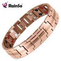 Bracelet en acier inoxydable magnétique à bijoux à la mode Rainso pour hommes ou femmes Accessoire Unisexe Bracelet à la mode Homme Y1125