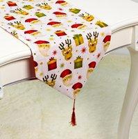 Nappes de Noël Fleur de mode Table imprimée Tapis Tapis Tapis Drapeaux Dinning Accueil Maison de Noël Décoration 180 * 35cm YYB3816