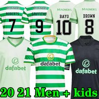 Novo 20 21 Jerseys de Futebol Celtic Top Tailândia 2020 2021 Camisa de Futebol Celtic Set Home Away Terceira Terceira Celta Kit Kit uniforme