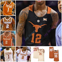 2020 Custom Texas Longhorns Basket Ballsy Jersey NCAA College Sims Kai Jones Kamaka Hepa Donovan Williams Royce Hamm Jr. Jase Febres