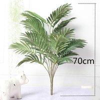 Fleurs décoratives Couronnes 70cm 21Heads Grands Tropical Palmier Vert Arbre Vert Soie Feuilles Faux Monstera Bouquet pour la maison Bonsaï Déco