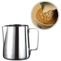 1 unid cocina acero inoxidable guirnalda taza leche espuma jarra espresso café jarra barista artesanía café latte leche espuma jarra jarra jarra
