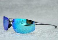 Estilo de moda 407 Top Quality Sport Sunglasses homens mulheres polarizadas óculos de sol super luz com caixinha de pano