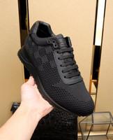 2021 Nova Chegada Mens Calçados Casuais Top Quality Homens Net Pano Sneakers Men Moda Luxurys Sapatos Sheepskin Insole Modelo