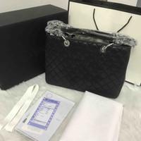 cowhide leather top quality totes original bag patent handbags imitation brand luxury designs women hand bags 5A caviar silver fashion shoulder purse