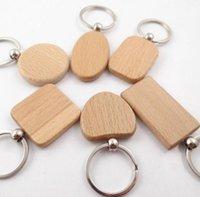 سلاسل المفاتيح diy المعادن سلاسل سلسلة المفاتيح خشبية جولة مستطيل شكل قلب فارغة الخشب حلقات مفتاح مفتاح الطرف الإبداعي هدايا الملحقات LLS215