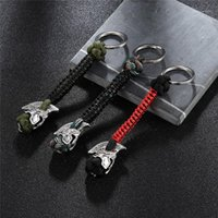 Mkendn Outdoor Embrella corde Spartan Warrior Car Keychain Grimpez Keychain Vikings Survival Paracord Sac à dos Buckle1