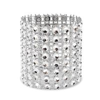 Serviettenringe Ring, 120 Stück Ring Diamantdekoration, Geeignet für Platzierung, Hochzeitsempfang, Abendessen oder Urlaubsfeier, F