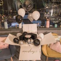 هدية التفاف مربع l صناديق البالون التعبئة مربع اللاتكس الحب الزفاف عيد ميلاد حزب ديكور استحمام الطفل