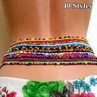Moda Estilo Boémio Cadeia Cintura Creative Beads Decor Cintura Jóias Cadeia da Barriga Para Mulheres Meninas Acessórios De Jóias