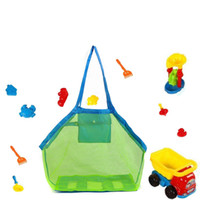 11 colores en blanco niños Malla de malla Sand Sand Beach Seashell Bag Kids Beach Toys Recibir Bag Mesh Sandboxes Away Cross Bag CCD3460