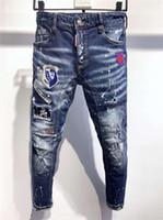 Dsquared2 Dsquared Dsq Dsq2 Dsquared2 FW20 NOUVELLE ARRIVÉE Hommes de qualité design Hommes Denim Cool Guy Jeans Broderie Pantalons Fashion Trous Pantalons I QTGDsqDsq2Dsquared