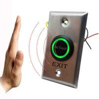 Fingerabdruck-Zugangskontrolle 2021 Berührungsloser Türrelease-Schalter IR-Berührungsloser No Touch Infrarot EXIT-Taste