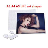 모조리! 승화 빈 심장 퍼즐 A3 A4 A5 퍼즐 사랑 모양 퍼즐 뜨거운 전송 인쇄 빈 소모품 자식 장난감 선물 A12
