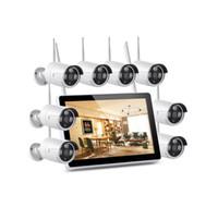 VERSVISION TUYA 8CH WIFI WIFI WIFI Camera NVR Kit com Monitor 12inch Ao Ar Livre IP66 Impermeável P2P Camera Sistema CCTV com Detecção Humana AI