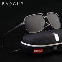Barcur in alluminio da uomo polarizzato occhiali da sole specchi occhiali da sole occhiali quadrati occhiali occhiali per uomo o donne femmina Y1207