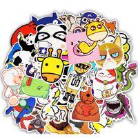 50 pcs imperméables d'autocollants d'animaux mignons jouets pour enfants à bricolage maison décoration tablettes snowboard voiture skateboard pièce SQCGYU jouets2010