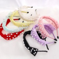 Mujeres Nudo Hairbands Jewelry 7 Colores Fashion Creative Lace Mess Pearl Headband Otoño Invierno Cabello Hoop Headwear para niñas Z2155