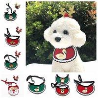 Chiens Bands Bands Christmas Bandana Dog Vêtements pour animaux de compagnie Accessoires pour Foulard Animaux Chiot Puppy Appresorios Elk Ornements WLL945