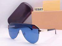 2021 여성 및 남성용 디자이너 선글라스 Unisex 하프 프레임 코팅 렌즈 2573 마스크 선글라스 탄소 섬유 다리 여름 클래식 스타일