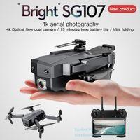 SG107 4K Double Camera WiFi FPV Anfänger Drone Kid Spielzeug, Optische Fließpositionierung, Höhenhold, Intelligentes Folgen, Geste Nehmen Sie ein Foto, 2-1