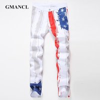 Jeans da uomo Gnancl Fashion Stampato Casual Uomo Casual Denim Pantaloni Pantaloni Pantaloni Dritto Hip Hop Streetwear di alta qualità Slim Plus Size1