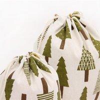 Bolsas de algodón de ropa de regalo 14x16 19x24 25x32cm Paño Favor de la boda Favor Boutique Candy Jewelry Packaging Muslin Bag Bolsas