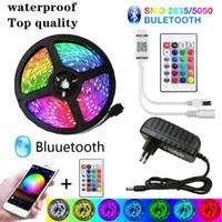 LED 스트립 라이트 블루투스 20m RGB 5050 유연한 리본 방수 RGB LED SMD 빛 5M 10M 테이프 다이오드 12V 30 라이트 / M WIFI 제어