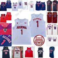 Custom Arizona Wildcats Jersey Basketball NCAA College Brown Dalen Terry Terry Azuolas Tubelis Ira Lee Jemarl Baker Jr. Kerr Kriisa James Akinjo