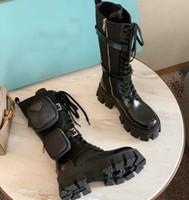 النساء المصممين Rois أحذية عالية قطع الكاحل مارتن الأحذية والقابلة للإزالة نايلون التمهيد العسكرية مستوحاة منخفضة قطع القتالية الأحذية أعلى جودة