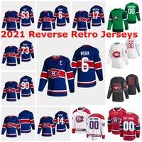 몬트리올 Canadiens 2021 Reverse Retro Jerseys Patrick Roy Jersey 27 Alex Galchenyuk 76 P.K. Lafleur Henri Richard 사용자 정의 스티치
