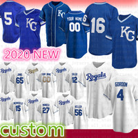 Kansas Custom City Baseball Jersey 16 Bo Jackson 15 Whit Merrifield 5 George Brett 13 Salvador Perez 4 Alex Gordon 6 Lorenzo Cain Moustakas