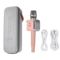 ناشكة G1 Karaoke Wireless Bluetooth Microphone تسجيل الغناء الميكروفون الحية TWS Duet Singing for Smart Phone Tablet PC TV1