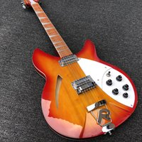 2019 Guitarra eléctrica de 12 cuerdas de alta calidad, Guitarra eléctrica Ricken 360, cuerpo de ráfaga roja de cereza, diapasón de palisandro, envío gratis