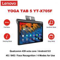 Lenovo Yoga Tab 5 X705F 10.1 بوصة Qualcomm 439 Octa Core Android 9.0 4G RAM 64G RAM التعرف على الوجه WIFI إصدار الكمبيوتر اللوحي PC1
